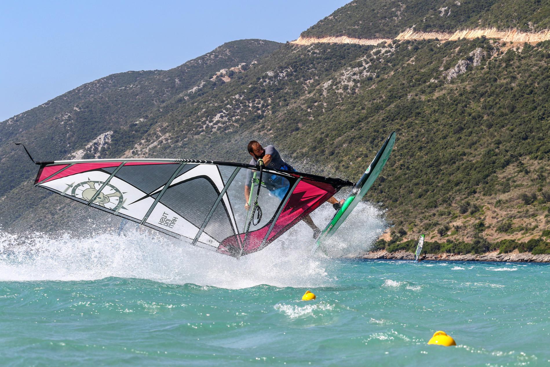 Windsurfing in Vassiliki