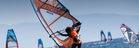 Windsurfing in Vassiliki, Greece